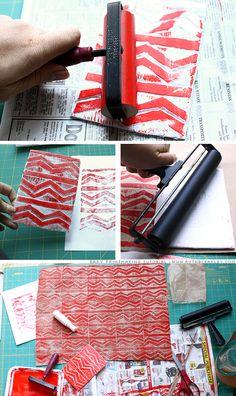 printing with styrofoam #stamping #crafts