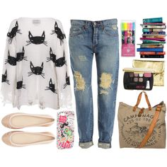 """""""Take your nose out of the books and live a little."""" by charie0214 on Polyvore"""