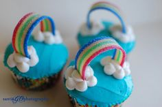 Rainbow cupcakes, if needed