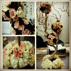 A lovely three dimensional centerpiece Surroundings Flowers made for a wedding. #nyc #design #wedding #creative
