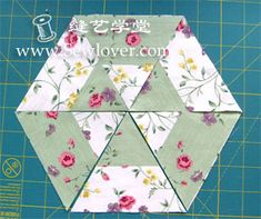 Fast Triangle hexagon - Sewlover seam Arts School | DIY handmade cloth Tutorials | Patchwork embroidery | handmade bags | tailoring production