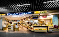 The Harvest Market concept was developed as a market style restaurant for HMS Host, with a roll out plan throughout airports in Europe.