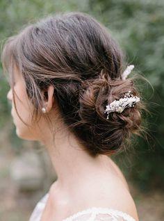 Barrettes Emma idéales pour mariée ou demoiselle d'honneur #englishgardencollection #bohowedding #mariage #hairpin #hairstyle #coiffuredemariée #boheme