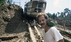 Herzog on the set of Fitzcarraldo