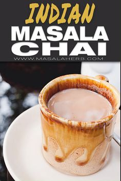 Homemade Indian Masala Chai prepared from scratch. - Super flavorful hot spiced beverage recipe, the blend is aromatic and not overpowering! I show you how to make a cup of this iconic Indian tea with my video. Make it with whole spices or spice blend. Masala Chai, Masala Tee, Milk Tea Recipes, Coffee Recipes, Vegan Tea Recipes, Iced Tea Recipes, Chai Tee, Comida Diy, Chai Recipe