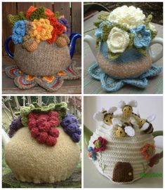 Crochet Tea Kettle Cover Patterns | DIY Cozy Home