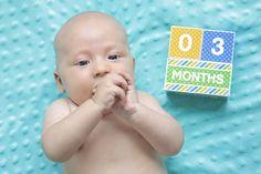 Baby Age Blocks, Boy Baby Shower Gift, Baby Milestone Blocks, Photo Prop, Boy milestone blocks, Monthly baby blocks, DIY PRINTABLE FILE,