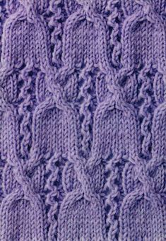 Cable Top Bells Knitting Stitch