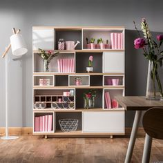 Vox Balance Modular Bookcase in White & Oak Effect Modular Furniture, Living Room Furniture, Home Furniture, Office Furniture, Create Your Own Furniture, Wide Bookcase, Bookcase White, Bookshelves, Classic Doors