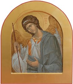 Order Of Angels, Angels Among Us, Archangel Gabriel, Archangel Michael, Religious Icons, Religious Art, Paint Icon, Russian Icons, Jesus Art