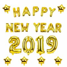 2019 Happy New Year Gold Foil Balloons Eve Party Merry Christmas Decorations Happy New Years Eve, Happy New Year 2019, New Years Eve Party, Happy New Year Stickers, Happy New Year Banner, Merry Christmas Pictures, Merry Christmas Quotes, Christmas Decor, Happy New Year Pictures