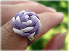 Polymer Clay Ring Two Color Twisted The by JoyfulCreationsArt, $12.00