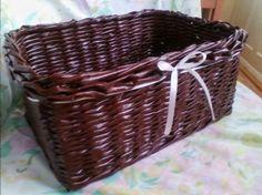 newspaper basket,chocolate