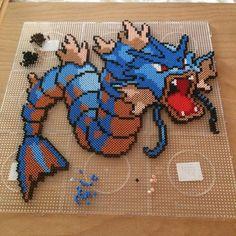 Gyarados Pokemon perler beads by parlnordarna