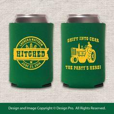 Shift Into Gear - Tractor Wedding Huggie by designpro1 on Etsy https://www.etsy.com/listing/216560973/shift-into-gear-tractor-wedding-huggie