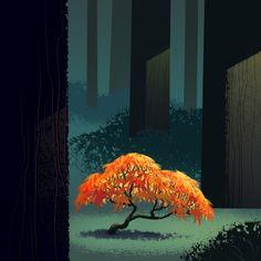 New maple tree illustration posts 68 ideas Silhouette Painting, Tree Silhouette, Tree Illustration, Landscape Illustration, Tree Branch Tattoo, Watercolor Tattoo Tree, Christmas Tree Forest, Family Tree Poster, Birch Tree Art