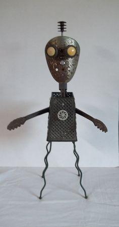 JASON- Found object sculpture. 149.95, via Etsy.