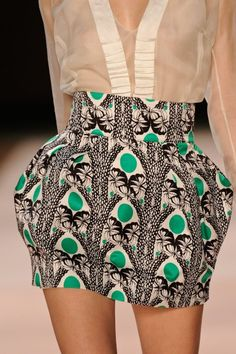 tribal print skirt with blouse