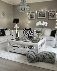 Cozy monochromatic siting area