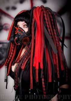 Red Black ❤️ #CyberGothGirl #CyberGoth