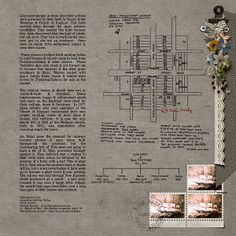 2 of 2 pins.... the right page....digital heritage layout by Meryl... great journaling and love the township map