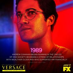 He craved attention. He killed for fame. Darren Criss is Andrew Cunanan when premieres on FX. American Crime Story, American Horror Story, Glee Cast, It Cast, Harry Potter Now, Everything Film, Finn Wittrock, Fox Tv Shows, Darren Criss Glee