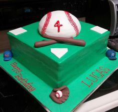 Baseball Cake (NY Yankee and Mets Fans) - Bunny Boots Bakery - Orlando, Fl