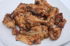 Baked Garlic & Onion Chicken Wings