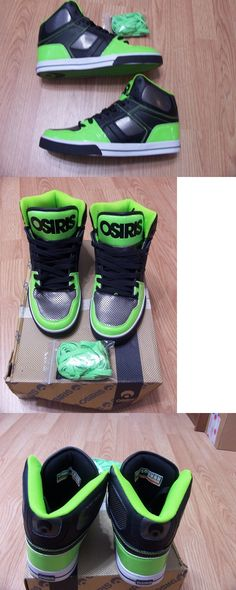 Men 159070: New Osiris Nyc 83 Vlc Skateboarding Athletic Sneakers Blk Gun Lme -> BUY IT NOW ONLY: $45 on eBay!