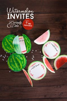 Watermelon Invite Printables - perfect for any fruity affair!
