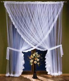Firana gotowa ROKSANA 300 x 250 cm Interior Design Shows, Ramen, Curtains, Home Decor, Crochet, Vintage, Beautiful, Cornices, Windows