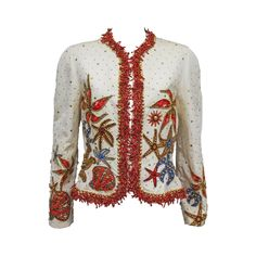 Gianni Versace embellished starfish jacket with real coral, c. 1992 | From a collection of rare vintage jackets at https://www.1stdibs.com/fashion/clothing/jackets/