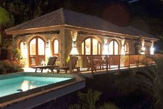 Beautiful at night!   Villa Viaggi - St. John, US Virgin Islands Vacation Rental #vacationvistas Click for details...