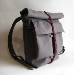 I want to try making a fancy backpack for grown-ups, maybe in wool flannel.