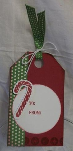 5 launch christmas tag - candy cane