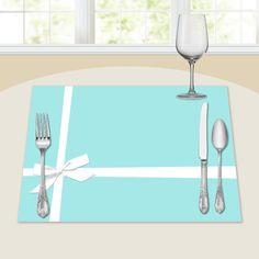 Bridal Shower Decor - Placemats - Classic Box Blue