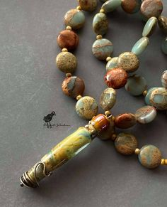 """Flame work and agate necklace at 21"""" with a 2"""" drop. Fire Glass, Agate Necklace, Lampwork Beads, Bead Art, Jewelry Art, Glass Beads, Artisan, Beaded Bracelets, Drop"""