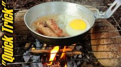 """Easy Campfire Cooking Cleanup-""""Quick Trick"""""""