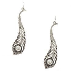 Art Deco Feather Earrings | Past Times  http://www.pasttimes.com/jewellery/by_theme/vintage_jewellery/art_deco_feather_earrings-869608.htm