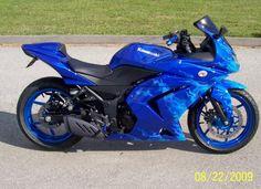 Top modif ninja 250 biru