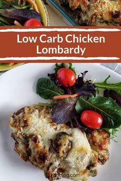 This Low Carb Chicken Lombardy is a perfect chicken low carb recipe for your next family dinner! It's everyone's favorite, so you'll be losing weight while you and your family are eating the same dinner! Score!  #lowcarbmealplan #lowcarbplan #lowcarb #17daydiet #17daydietrecipes #17daydietmealplan #keto #ketodiet Low Carb Recipes, Diet Recipes, Cooking Recipes, Healthy Recipes, Low Carb Meal Plan, Low Carb Diet, Chicken Mushroom Recipes, Chicken Recipes, 17 Day Diet