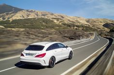 The all new CLA 45 AMG Shooting Brake! With an output of 265 kW (360 hp) and peak torque of 450 Newton meters, the 2.0-liter turbo engine is the world's most powerful four-cylinder engine in series production. [CLA 45 AMG Shooting Brake   Combined fuel consumption: 7.1 – 6.9 l/100km   CO2 emission: 165 – 161 g/km] #MercedesAMG #CLA45AMGShootingBrake #CLA45AMG #AMG #DrivingPerformance #HighPerformance #MercedesBenz