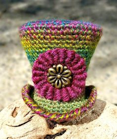 Crocheted Top Hat ~ designed & handmade by © Elvira Jane