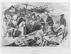 In the Swan's Shadow: Thanksgiving in Camp (from Harper's Weekly, Nov. 29, 1862)