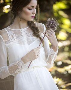David Christian colección novias 'Clover': vestido San Remo detalles