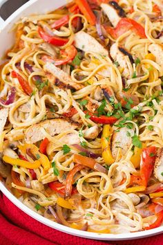 fat burning pasta… mmmmmm pasta FULL RECIPE HERE Part of me was operational on a build it and they will arrive mentality (probably out of . Chicken Pasta Recipes, Healthy Pasta Recipes, Cajun Recipes, Cooking Recipes, Meal Recipes, Cooking Ideas, Healthy Meals, Delicious Recipes, Salad Recipes