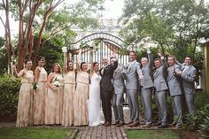 This fun and fab wedding at the William Aiken House @pphgcharleston  was published in @TheWeddingRow  Wedding coordination and design by @achasbride Hair and makeup by @paperdollshair  Catering and cake by @pphgcharleston