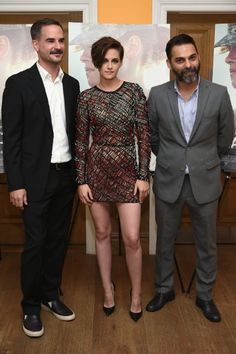 Kristen Stewart Photos - (L-R) Writer/director Peter Sattler and actors Kristen Stewart and Peyman Moaadi attend the 'Camp X-Ray' New York premiere at the Crosby Street Hotel on October 2014 in New York City. - 'Camp X-Ray' Premieres in NYC Billy Lynn, Iranian Actors, American Ultra, Sils Maria, Iranian Women Fashion, Grunge Photography, Photo L, Kristen Stewart, Haute Couture