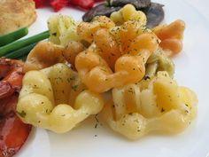 C.A.K.E.: 魚排 Fish Steak, 蜜汁蝦 Honey Shrimp, 蒜味奶油檸檬麵Lemon Garlic Butter with Pasta 6/29/2014
