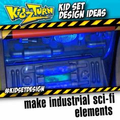 make industrial sci-fi elements. take odds-&-ends of old toys, and an assortment of plumbing and conduit to make sci-fi props like this.  - INSTAGRAM VIDEO - (click to play) -  for full description follow the Instagram Link - #kidsetdesign